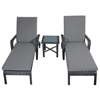 Haiti Rattan Wicker Reclining Sun Lounger Garden Furniture Set