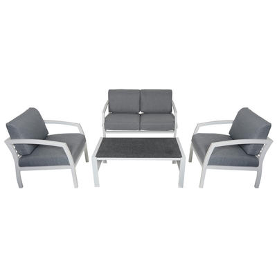 Cayman 4-Seat Aluminium Garden Furniture Sofa & Coffee Table Set