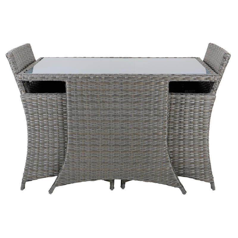 Aruba Rattan Wicker Balcony 2 Seat Garden Furniture Set