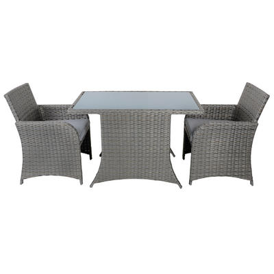 Aruba Rattan Wicker Balcony 2-Seat Garden Furniture Set