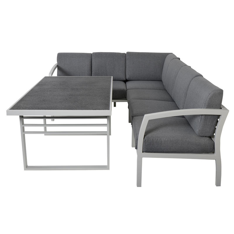 seat aluminium garden furniture sofa dining table set thumbnail 2