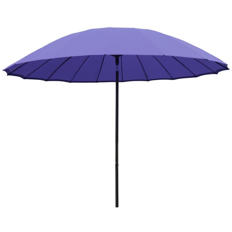 2 5m iris tilting garden parasol sun shade canopy umbrella
