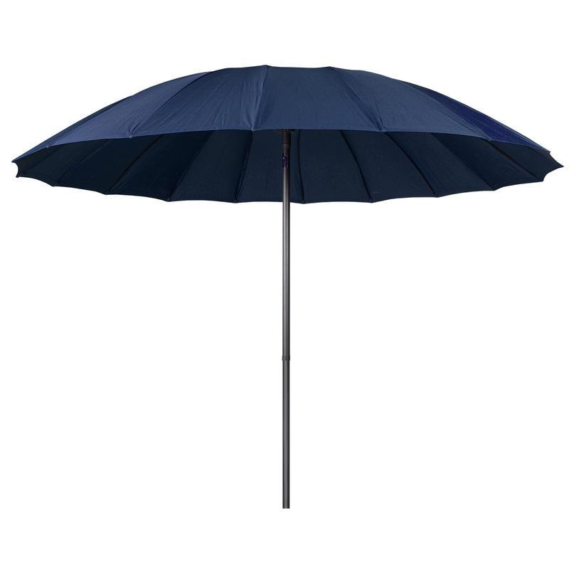 navy tilting garden parasol sun shade canopy umbrella. Black Bedroom Furniture Sets. Home Design Ideas