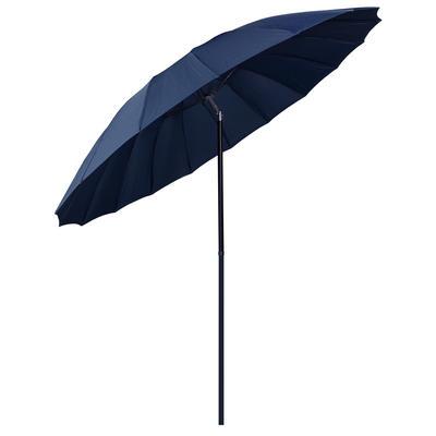 2.5m Navy Tilting Garden Parasol Sun Shade Canopy Umbrella