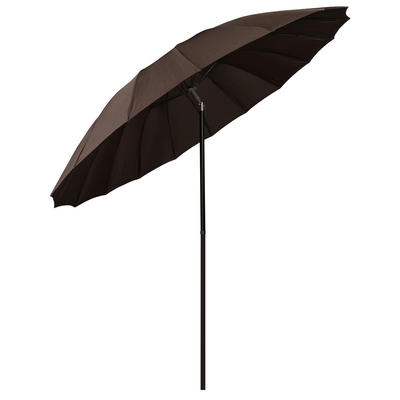 2.5m Chocolate Tilting Garden Parasol Sun Shade Canopy Umbrella