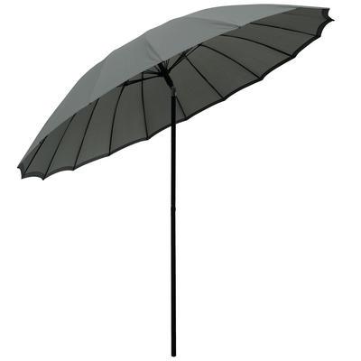 2.5m Slate Tilting Garden Parasol Sun Shade Canopy Umbrella