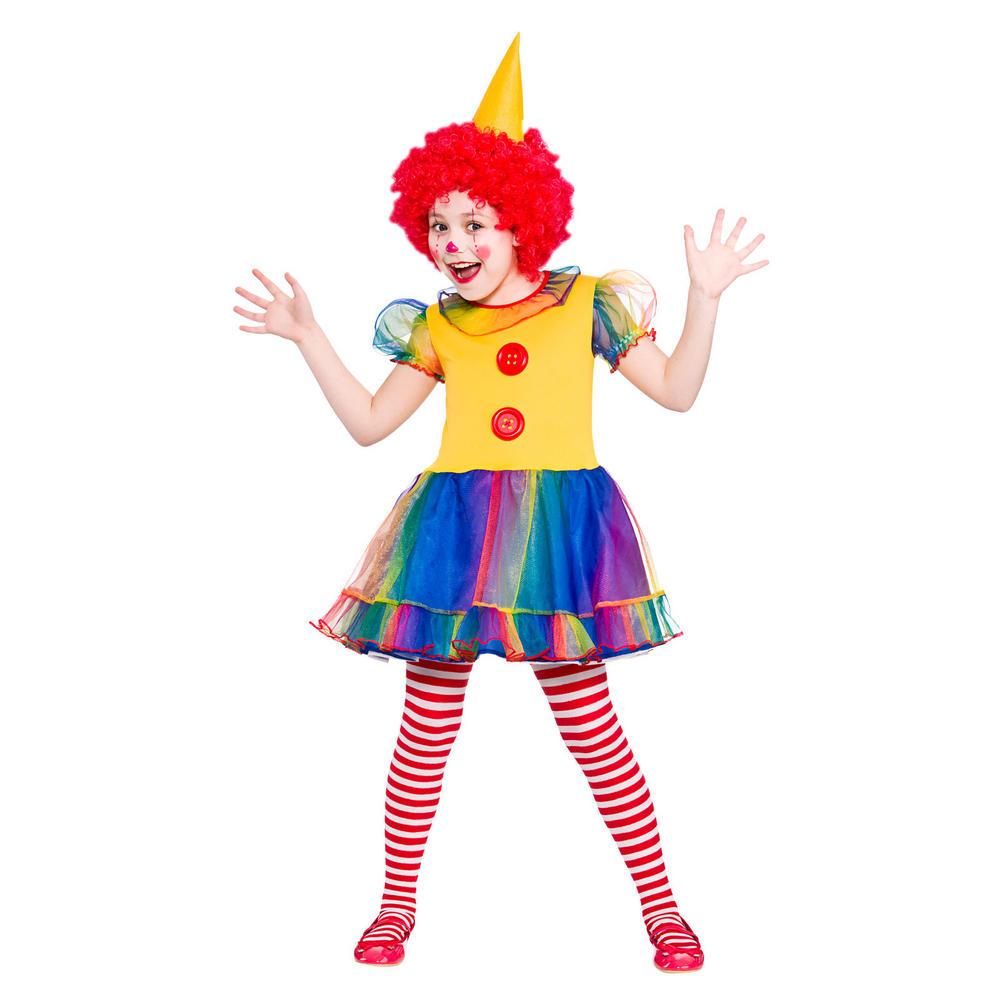 Girls Cute Little Clown Fancy Dress Halloween Costume | Girls ...