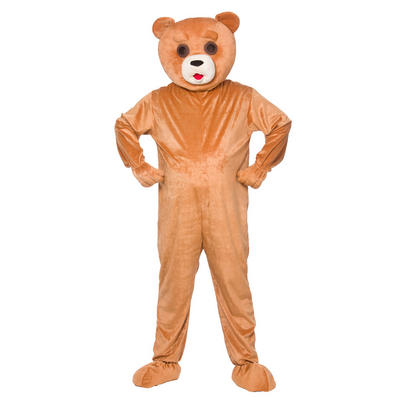 Adults Funny Teddy Mascot Fancy Dress Costume