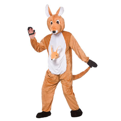 Adults Brown Kangaroo Mascot Fancy Dress Costume