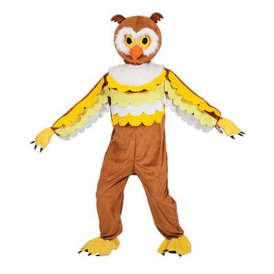 Adults Brown Owl Mascot Fancy Dress Costume