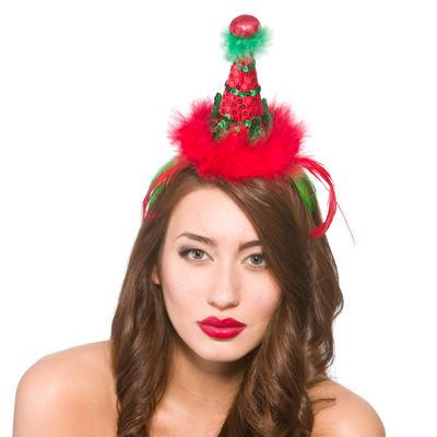 Deluxe Elf Hat Headband Christmas Fancy Dress Accessory