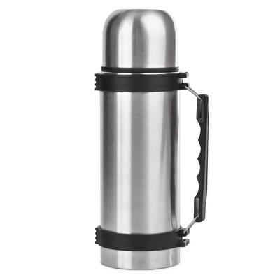 1 Litre Stainless Steel Vacuum Bullet Drinks Flask With Carry Handle