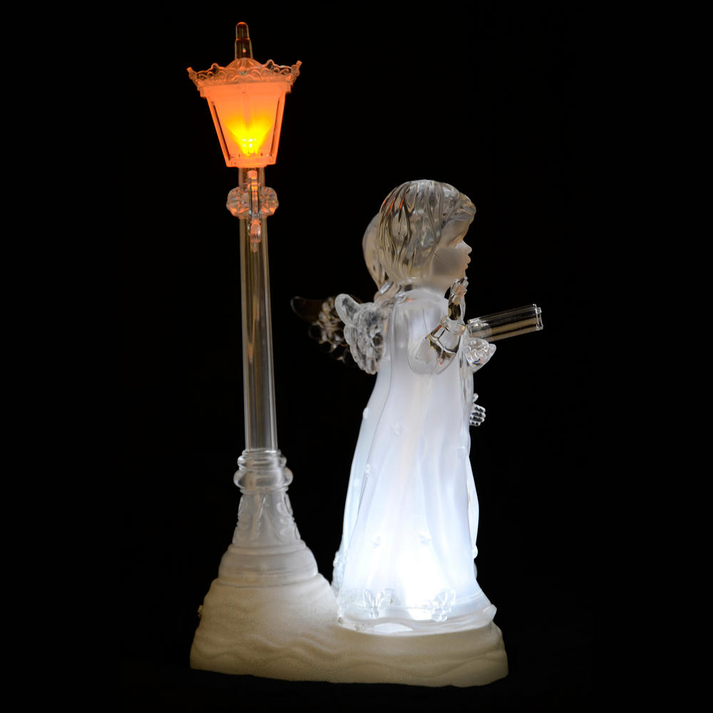 Light up led acrylic carol choir singer angel ornament for Angel of the north christmas decoration