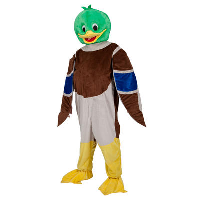 Adults Mallard Duck Mascot Fancy Dress Costume