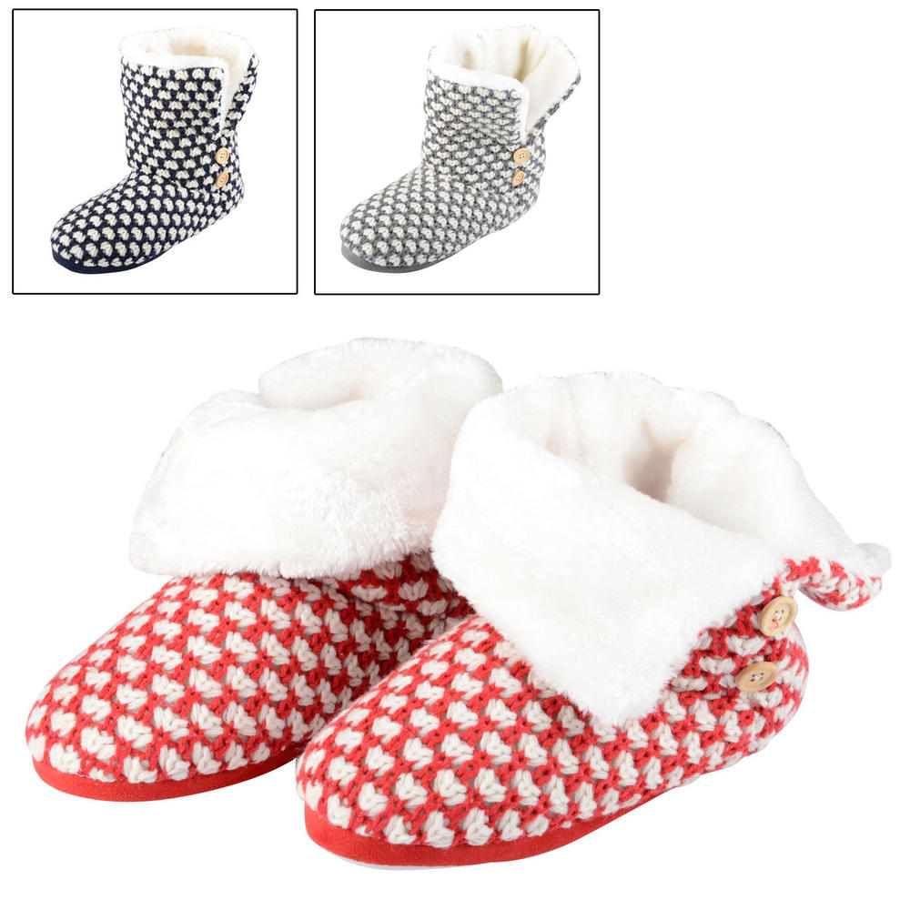 Faux Fur Slipper Boots Uk