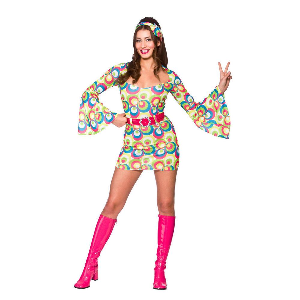 Ladies Retro Go-Go Girl Fancy Dress Halloween Costume | Retro ...