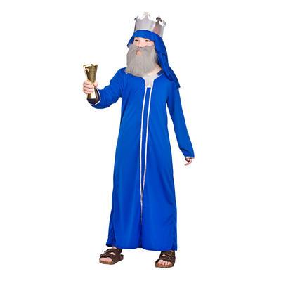 Childrens Blue Wise Man Casper Fancy Dress Costume