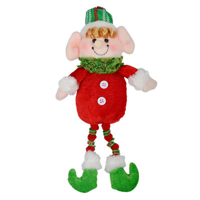 28cm Red & Green Elf Figure Christmas Decoration