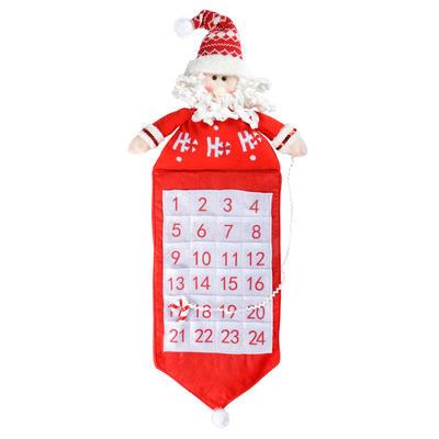 63cm 3D Fabric Santa Advent Calendar With Pockets
