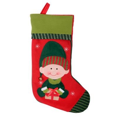 40cm Felt Fabric Christmas Elf Stocking Xmas Gift Present