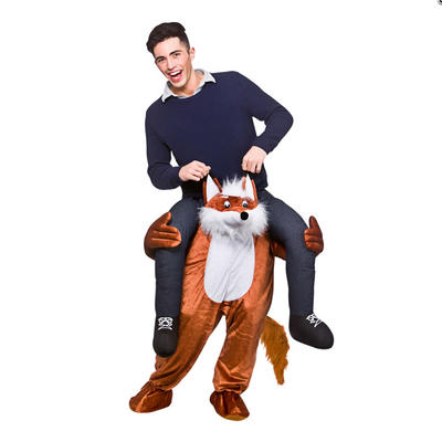 Brown Carry Me Fantastic Fox Funny Adults Mascot Fancy Dress Costume