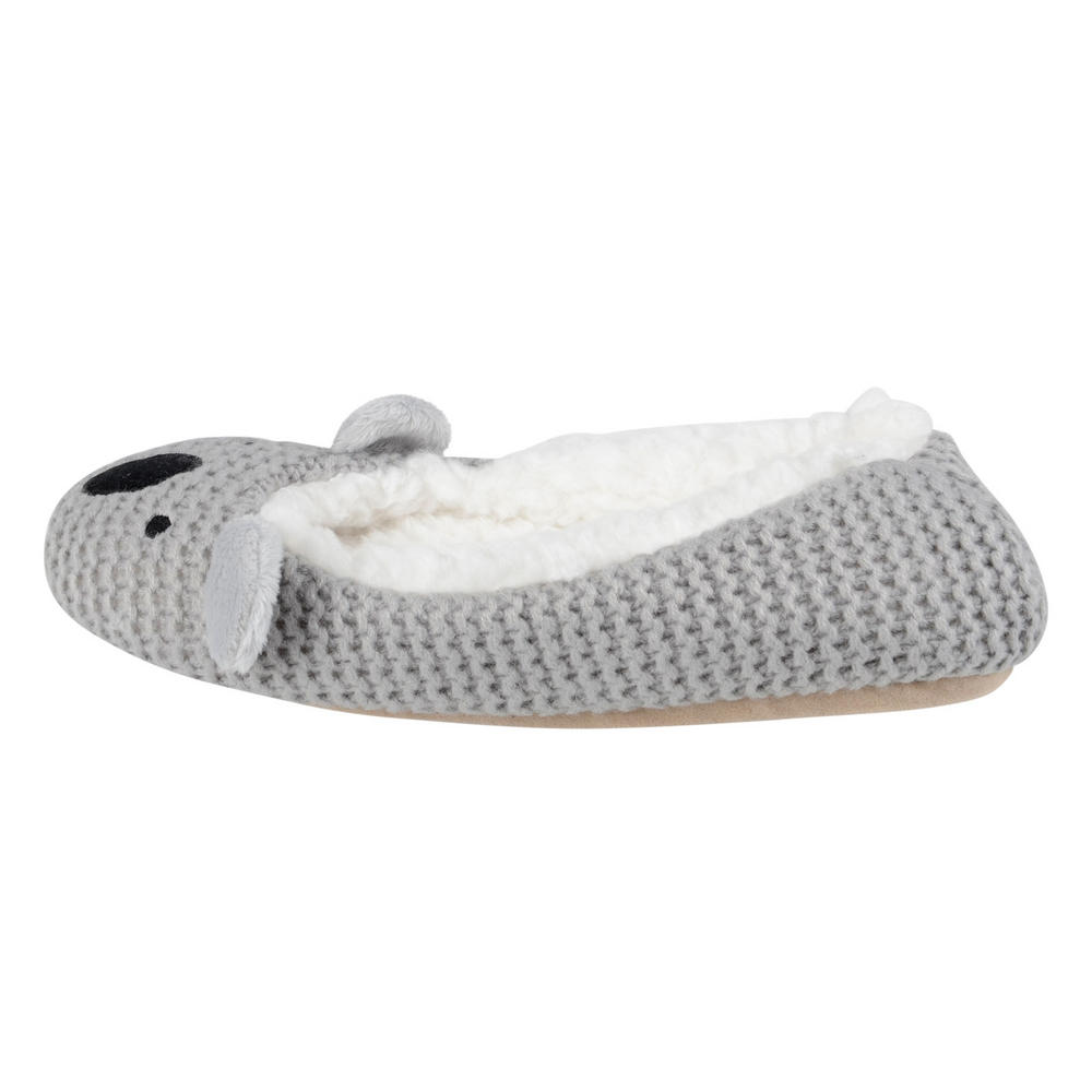 Ladies Knitted Animal Styled Ballet Slippers