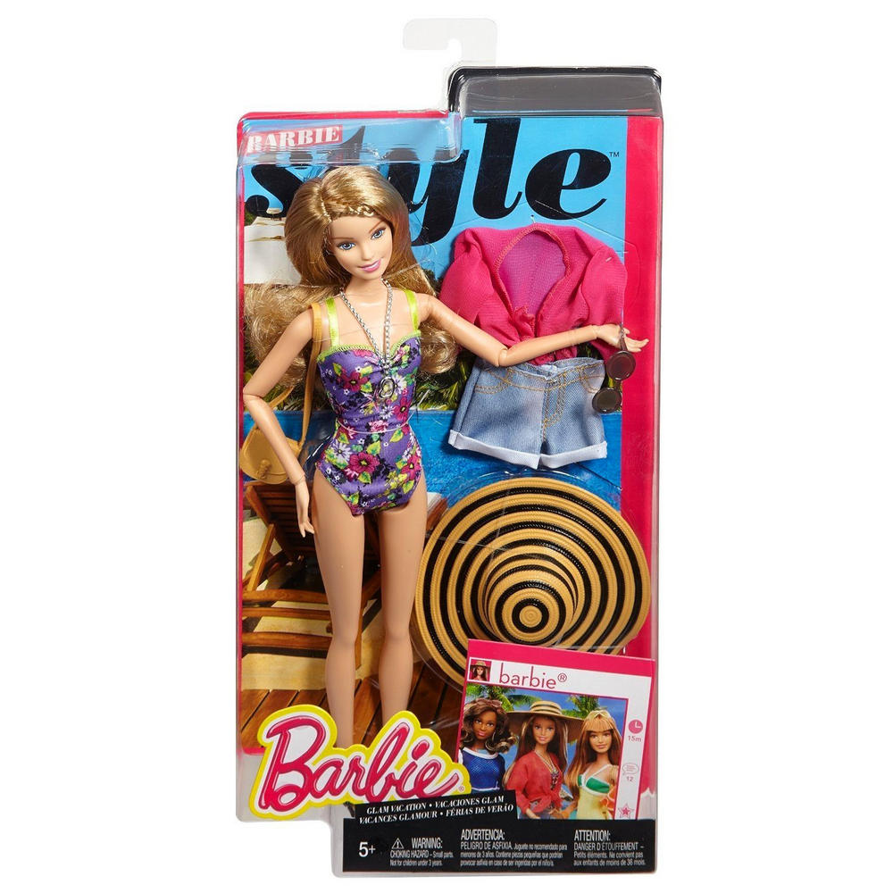 Barbie Style Glam Vacation Doll With Beach Accessories Age 5+