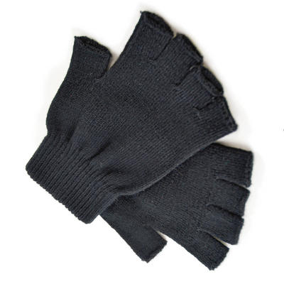 Mens Black Magic Fingerless Gloves