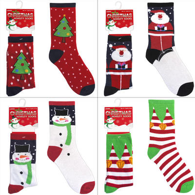 Ladies Novelty Christmas Socks UK 4-7