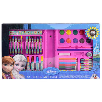 Childrens Disney Frozen 52 Piece Art Case Colouring Gift Set