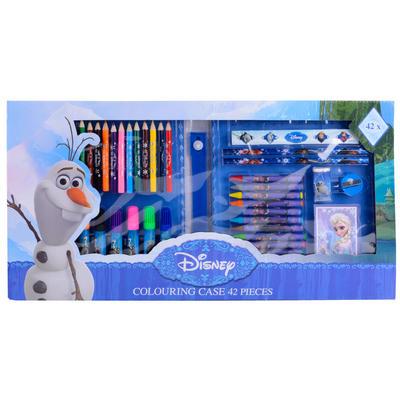 Disney Frozen 42 Piece Colouring Case Gift Set