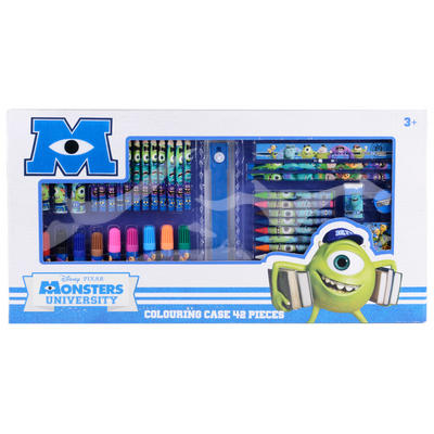 Monsters Uni 42 Piece Colouring Case Gift Set