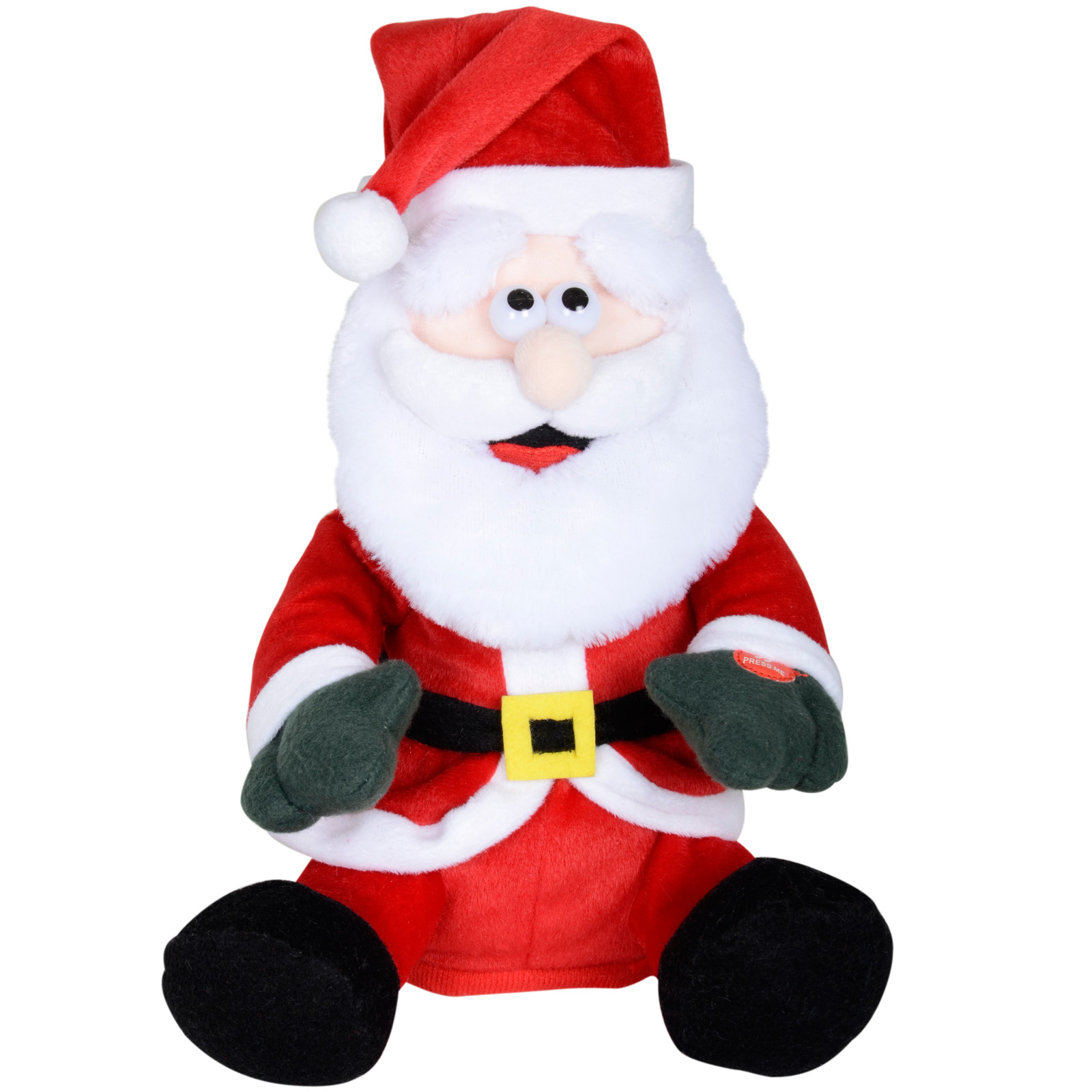 Musical christmas ornaments that play music - 31cm Dancing Santa Claus Ornament With Xmas Rap Music