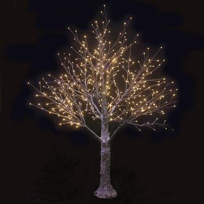 Brown Snowy Twig Tree Warm White LED Lights Christmas Indoor Outdoor Decoration