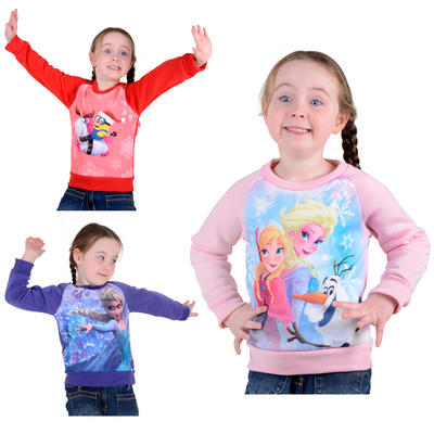 Girls Disney Frozen / Minions Despicable Me Christmas Jumper