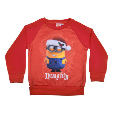 Childrens Despicable Me Minion Naughty Christmas Jumper