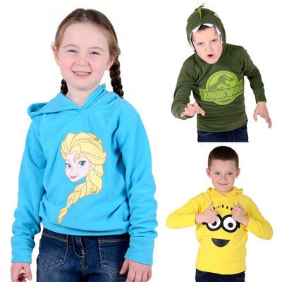 Kids Fleece Hoodie Official Character Boys Girls Jumper 2-7 Years