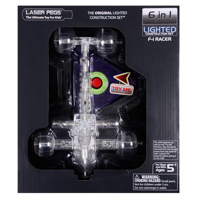 Laser Pegs 6 Kits In 1 F-1 Racer 1570 Age 5+