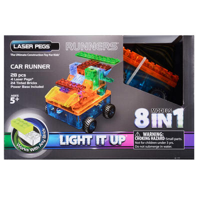 Laser Pegs Runners Car 28 Pieces 8 Models In 1 Age 5+