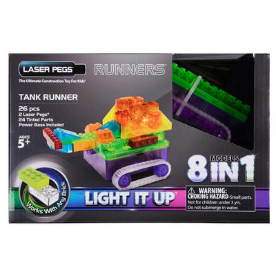 Laser Pegs Runners Tank 26 Pieces 8 Models In 1 Age 5+
