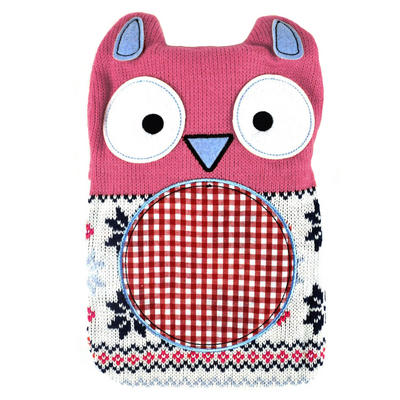 Hot Buddies Pink Owl Hot Water Bottle With Removable Knitted Cover