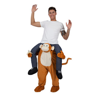Carry Me Monkey Funny Adults Mascot Fancy Dress Costume