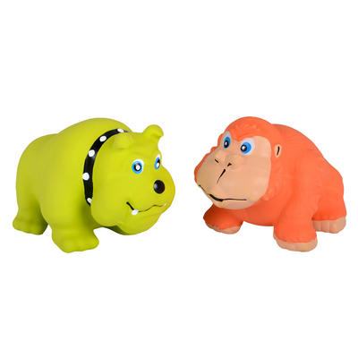 Squeaky Latex Bulldog / Gorilla Pet Toy Dog Puppy Chew Fetch