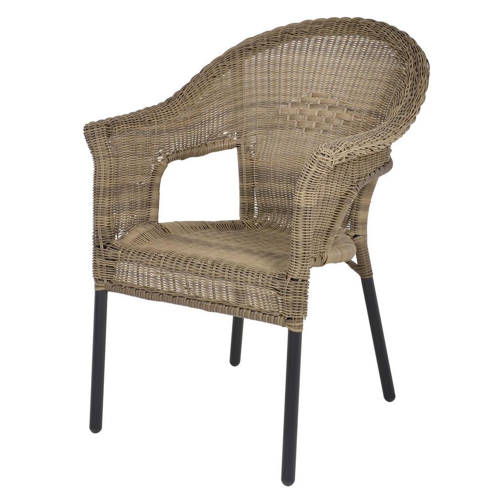 Havana rattan bistro 2 seat garden furniture table chairs set - Cane bistro chairs ...