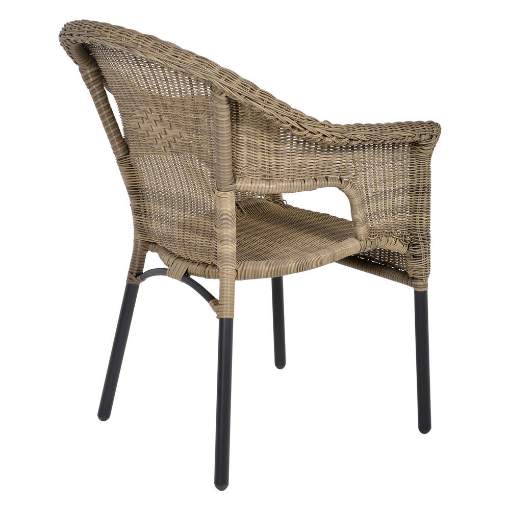 Havana rattan bistro 2 seat garden furniture table for Garden furniture chairs