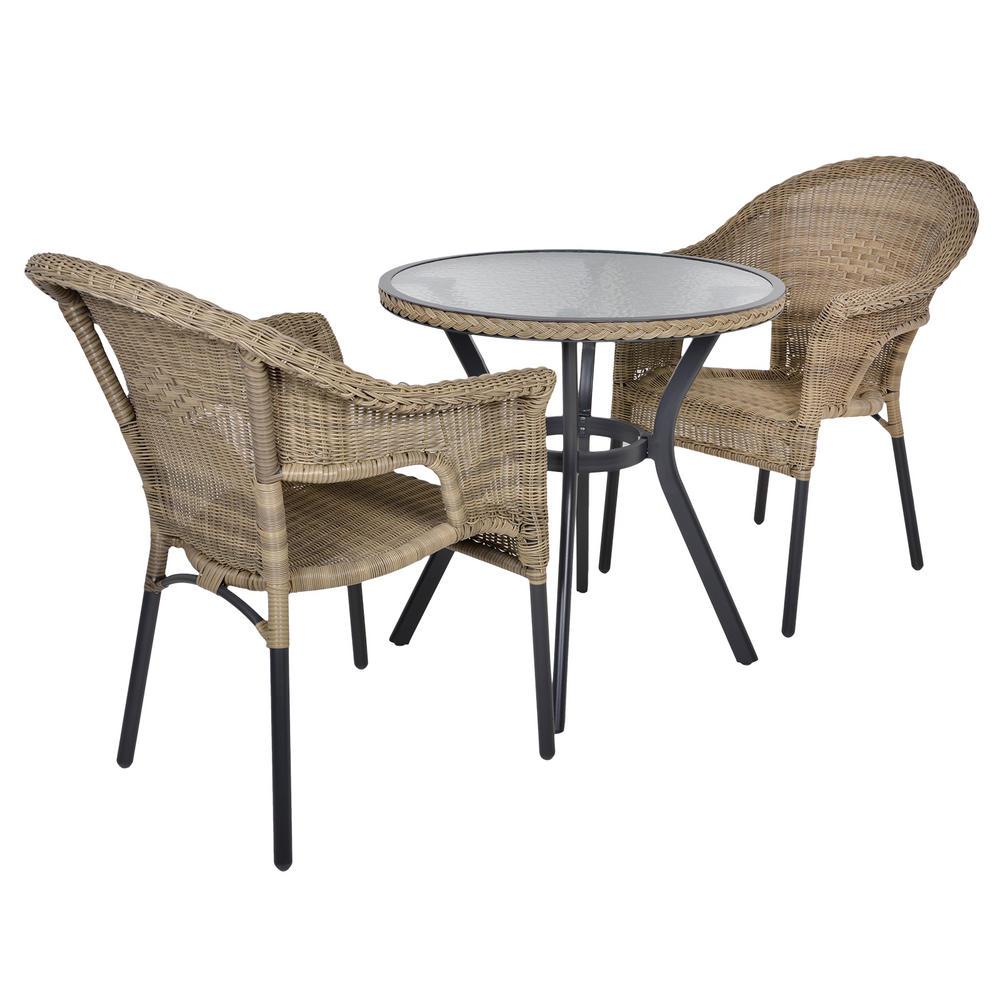 Havana Rattan Bistro 2 Seat Garden Furniture Table