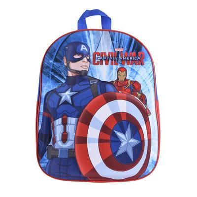 Kids Captain America Backpack Superhero Marvel Boys Junior 3D Bag