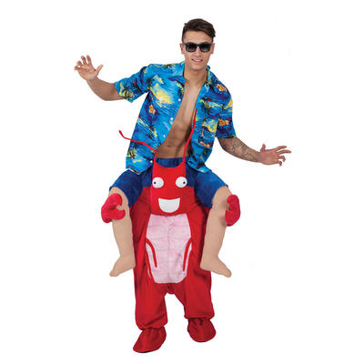 Carry Me Lobster Funny Adults Mascot Fancy Dress Costume