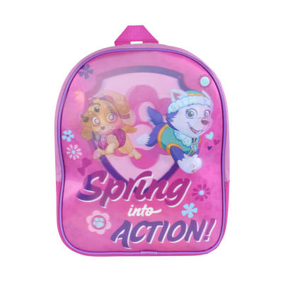 Paw Patrol Kids 3D Backpack Bag Girls Luggage Pink Cartoon