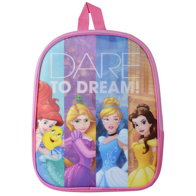 Kids Disney Princess Hologram Backpack Ariel Rapunzel Beauty Belle